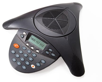 Speakerphone used for joining a conference call